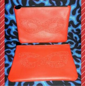 Ipsy 4 Small Red Glasses Cosmetic Bags Bundle